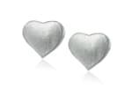 Sterling Silver Double Heart Earrings - 1