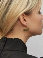 Handcrafted 24K Gold Plated Petite Paddle Threader Earrings - 2
