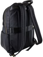 Ellen Tracy Nylon Workbook Backpack - Black - Back