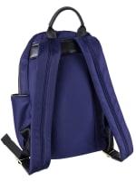 Ellen Tracy Nylon Zippered Backpack - Navy - Back