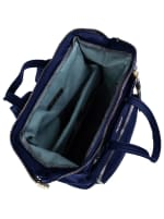 Joan & David Nylon  Zippered Workbook Backpack - Navy - Detail