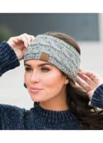 CC® Confetti Head Wrap - Natural Grey - Back