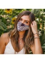Nose Wire Autumn Mandala Wide Face Mask Bundle (3-Pack) - Multi - Back