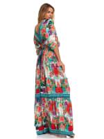 Floral Boho Peasant Dress - 6