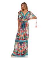 Floral Boho Peasant Dress - 4
