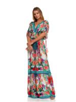 Floral Boho Peasant Dress - 5