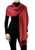 Jones New York Solid Viscose Shawl with Fringes - Spice - Back