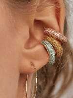 Gold Plated Max Ear Cuffs - Rose - Back