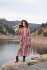 Floral  Maxi Shirt Dress - 6