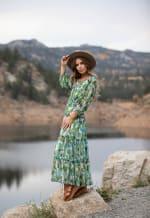 Veronica Maxi Peasant Dress - 3