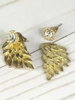 Mega Wing-Shaped Earrings - Gold - 2