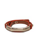 Gold Plated Sash Leather Bracelet - 4