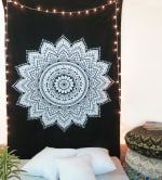 Black And White Twin Tapestry - 2