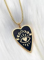 Gold Plated - Full Heart Necklace - 1