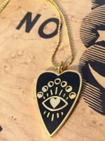 Gold Plated - Full Heart Necklace - 2