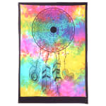 Tie Dye Mandala With Tribal Feathers Poster - 4