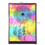 Tie Dye Mandala With Tribal Feathers Poster - 5