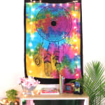 Tie Dye Mandala With Tribal Feathers Poster - 2