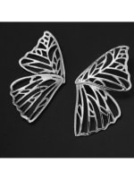 Butterfly Earrings - Silver - Back