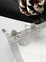 Crystal Earrings - Silver - Back