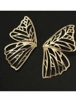 Butterfly Earrings - Gold - Back