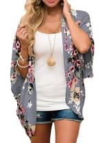 Summer Kimono - Plus - Grey - Back