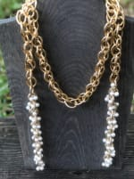 Pearl Lattice Necklace - 2