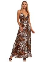 Spaghetti Strap Flowy Dress - 1