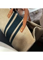 Linen Shoulder Bag - Black - Back