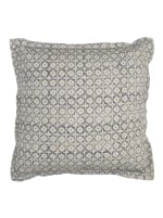Blue & Natural Poly Filled Throw Pillow - Blue - Front