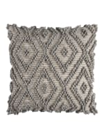 Gray Poly Filled Throw Pillow - Gray - Front
