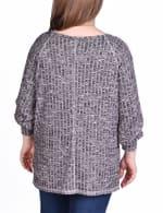 Long Sleeve Cuffed Rib Pullover - Plus - 11