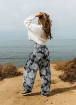 Barbados Harem Pants - Navy Blue / White - Back