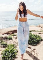 Cayman Harem Pants - Light Blue - Front