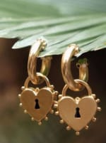Locked Heart Earrings - 2