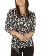 Elbow Sleeve Pullover With Drawstring Detail - 1