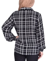 Long Sleeve Rounded Collar Blouse - Petite - 7
