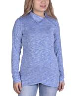 Long Sleeve Zippered High Neck Pullover - 1