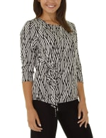 Elbow Sleeve With Drawstring Pullover- Petite - 6