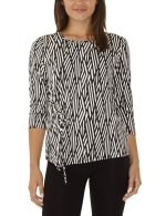 Elbow Sleeve With Drawstring Pullover- Petite - 4