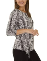 Elbow Sleeve Pullover With Drawstring - Petite - 9