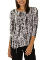 Elbow Sleeve Pullover With Drawstring - Petite - 7