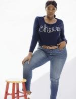 Roz & Ali Cheers Pullover Sweater - Plus - 5