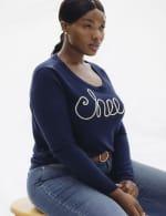 Roz & Ali Cheers Pullover Sweater - Plus - 4