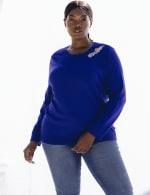 Roz & Ali Rhinestone Pullover Sweater - Plus - 4