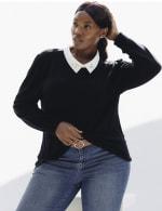 Roz & Ali Embellished 2Fer Sweater - Plus - 4