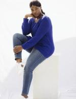 Westport Scallop Neck Jewel Pullover  - Plus - 10