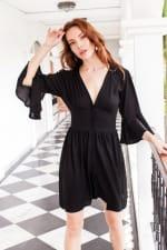 Melrose Dress - Black - Front