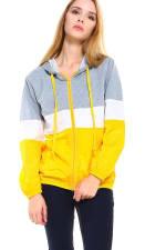 Color Block Sporty Windbreaker Jacket - 1