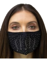 2 Pieces Embossed Stone/Solid Face Mask - 1